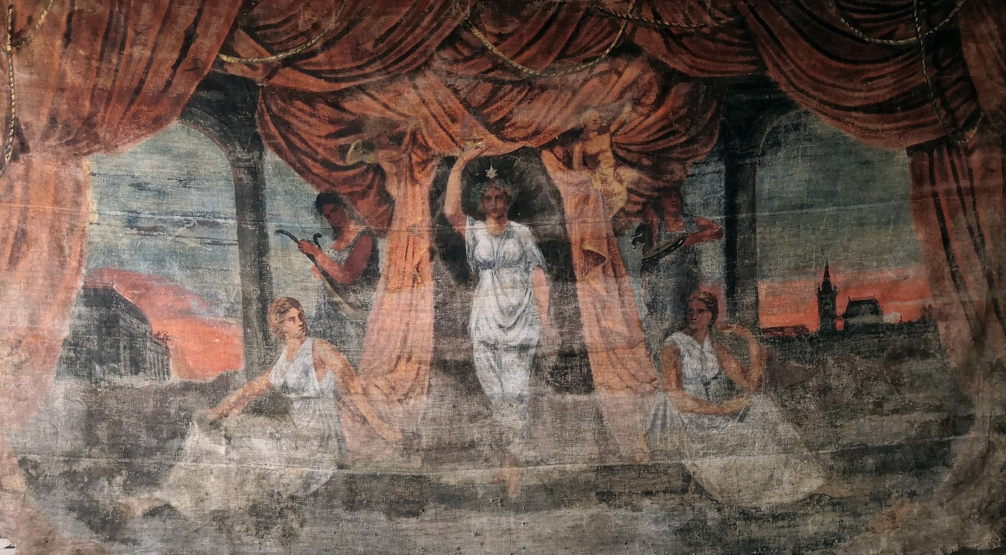 Doubravická divadelní opona od Alfonse Muchy