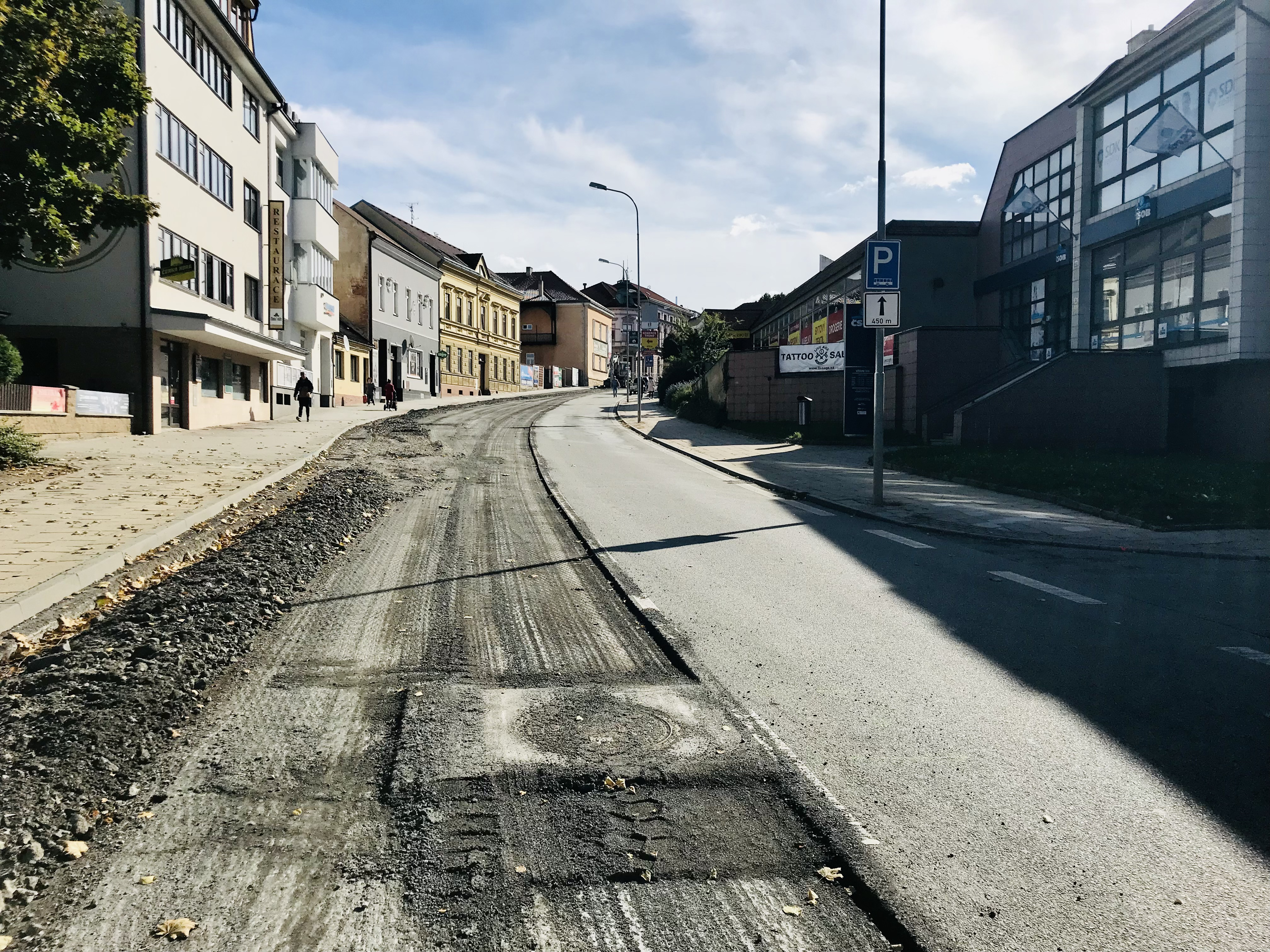 Stavební práce na ulici Kapitána Jaroše