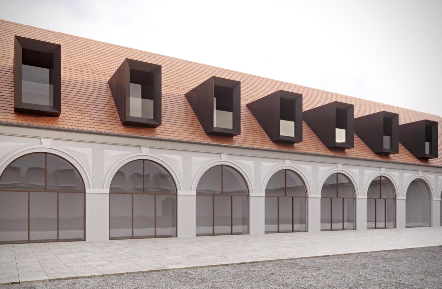 Návrh prosvětlení střech Panského dvora