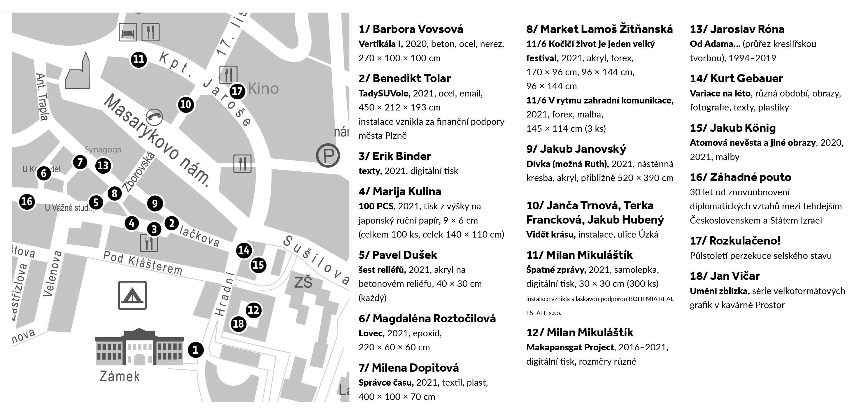 Mapka festivalových výstav