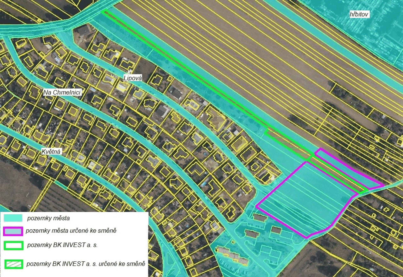 Majitelé pozemků Na Chmelnici a v okolí