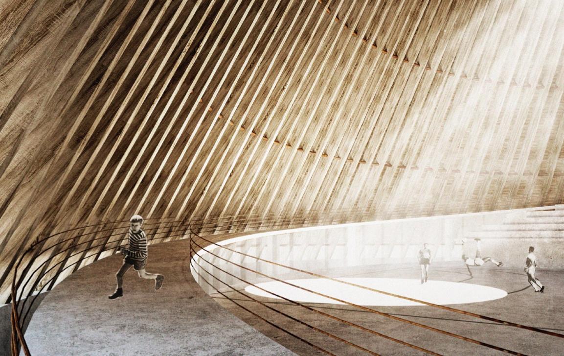 Město Boskovice v červnu představilo první vizualizace návrhu sportovní haly, celá studie by měla být veřejně prezentována 12. července