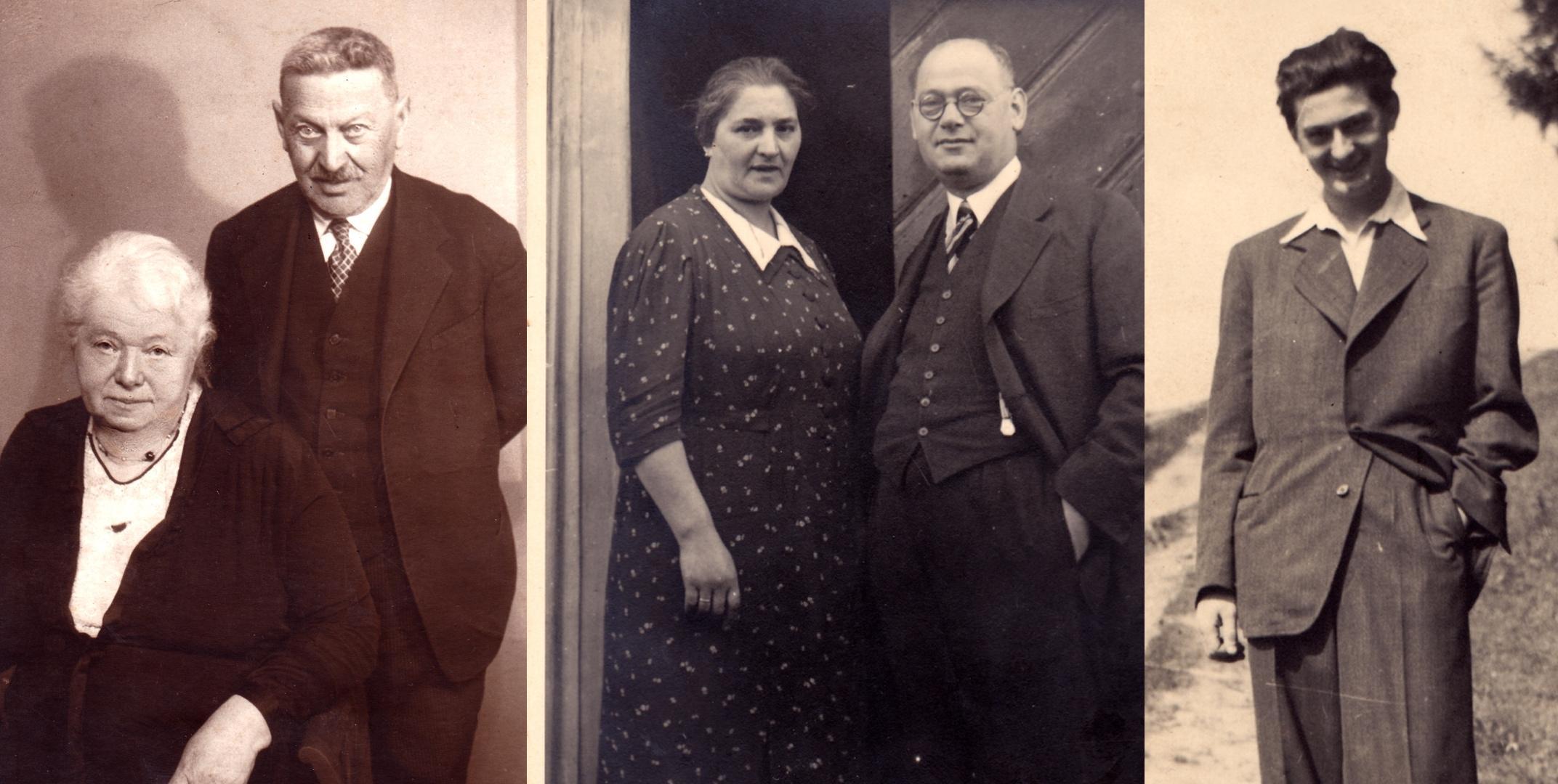 Zleva Terezie, Leopold, Sofie, Moris a Hanuš Grünwaldovi