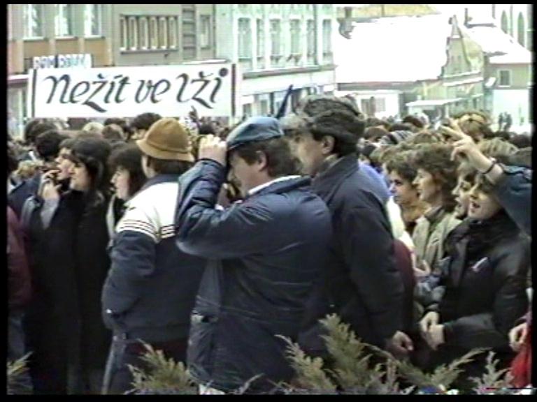 Manifestace v rámci generální stávky v pondělí 27. listopadu