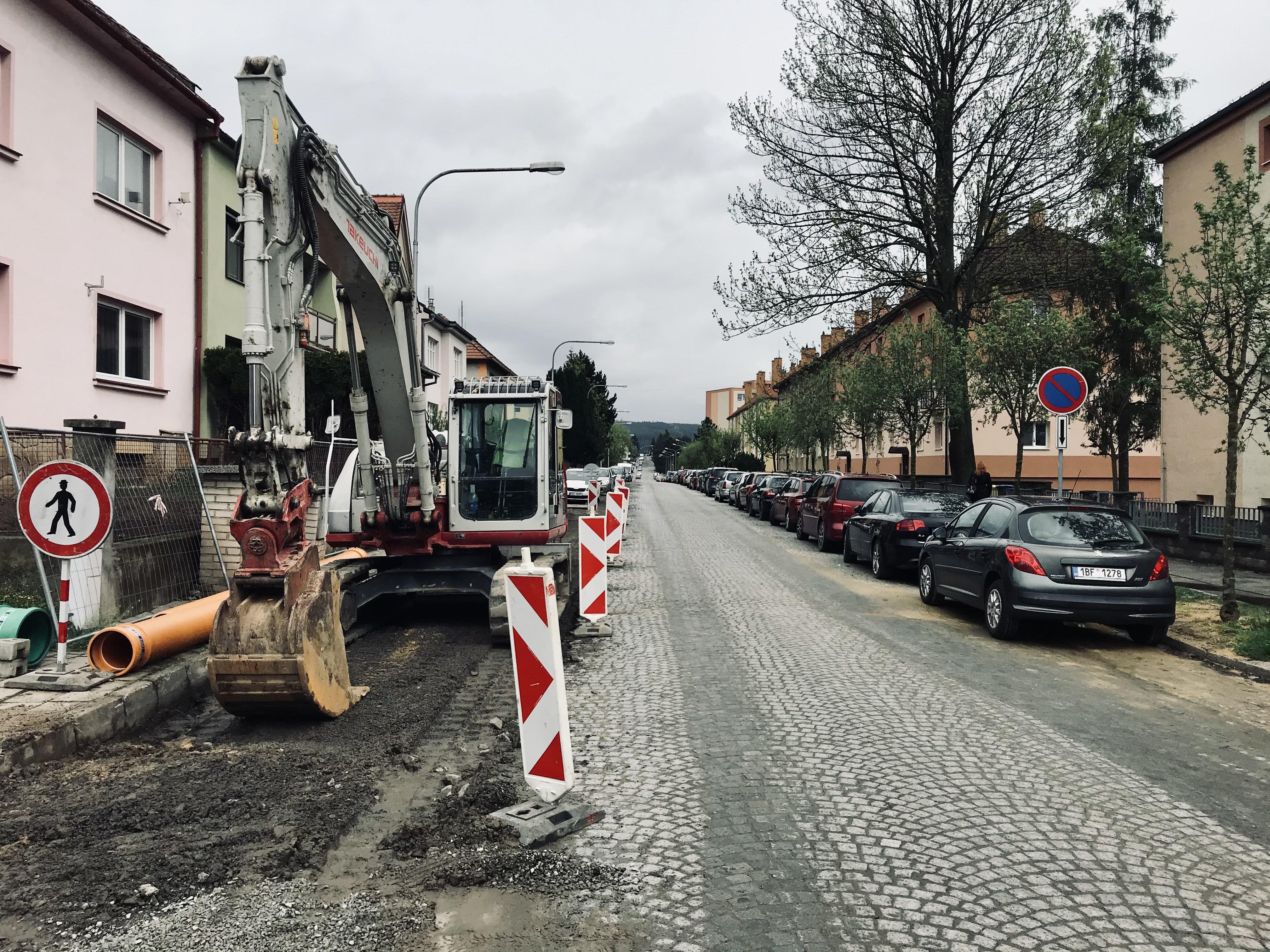 Pokračující rekonstrukce Hybešovy ulice