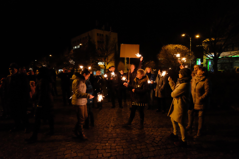 Prosincová demonstrace v Boskovicích