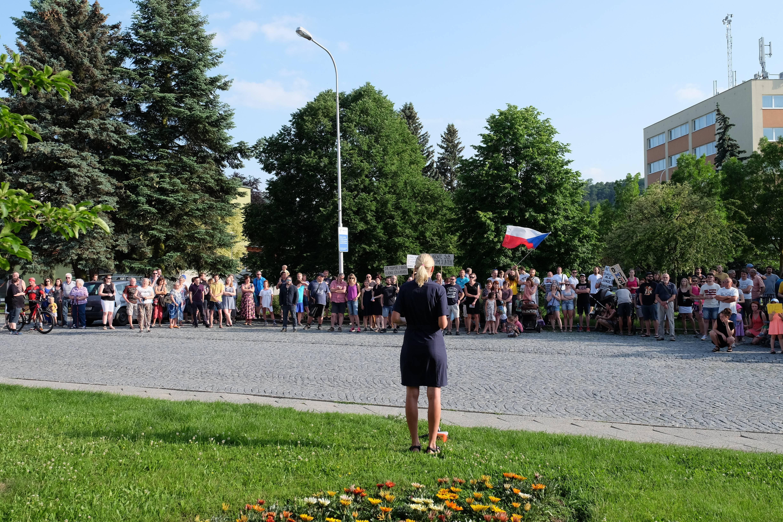 Demonstrace v Boskovicích