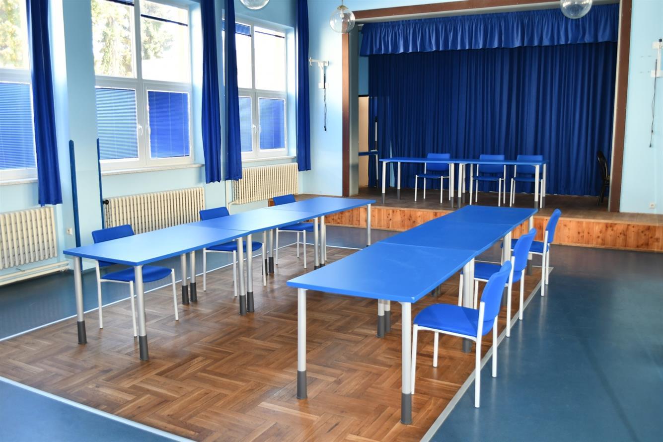 Modrý salónek sokolovny
