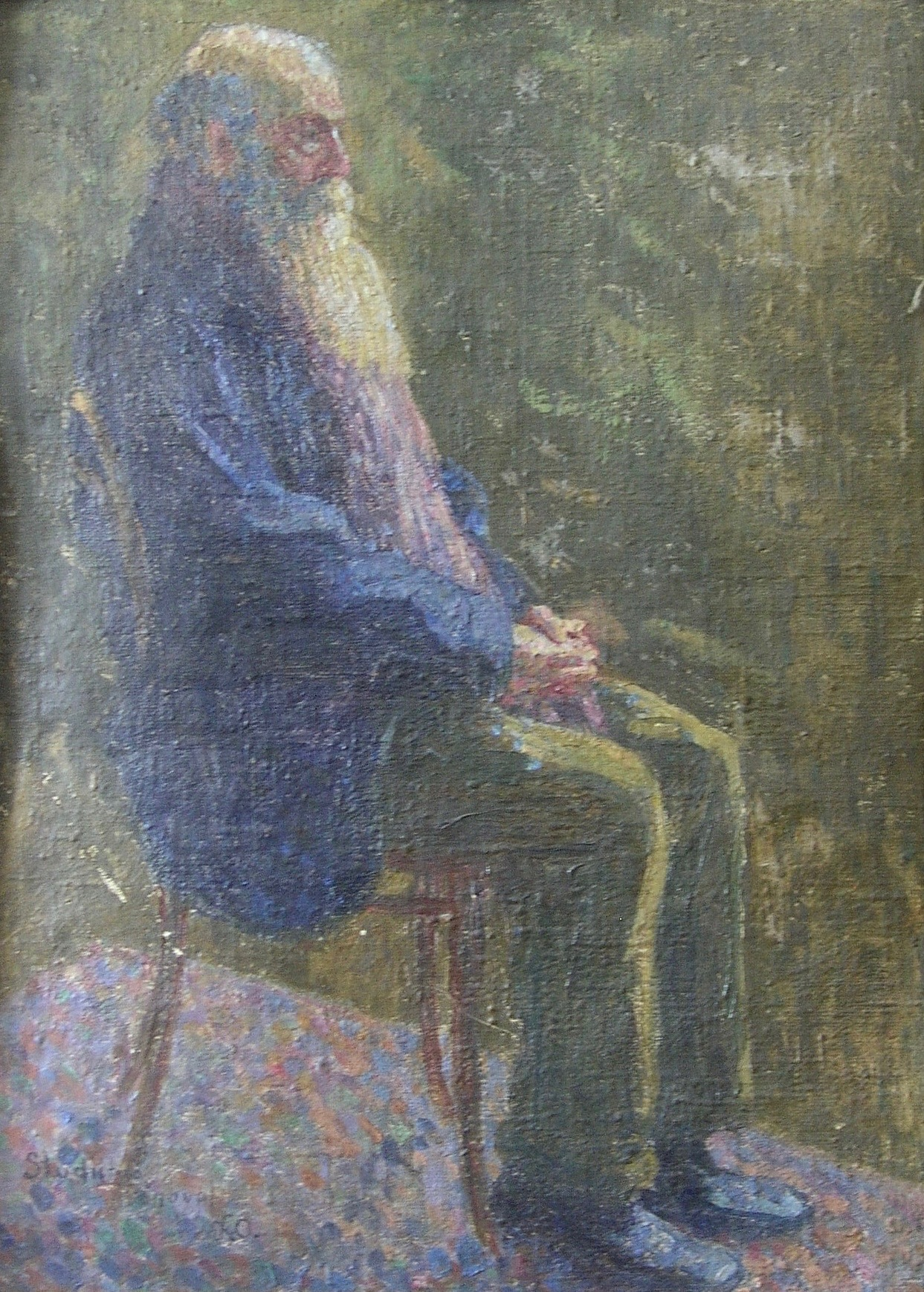 Studie sedícího starce
