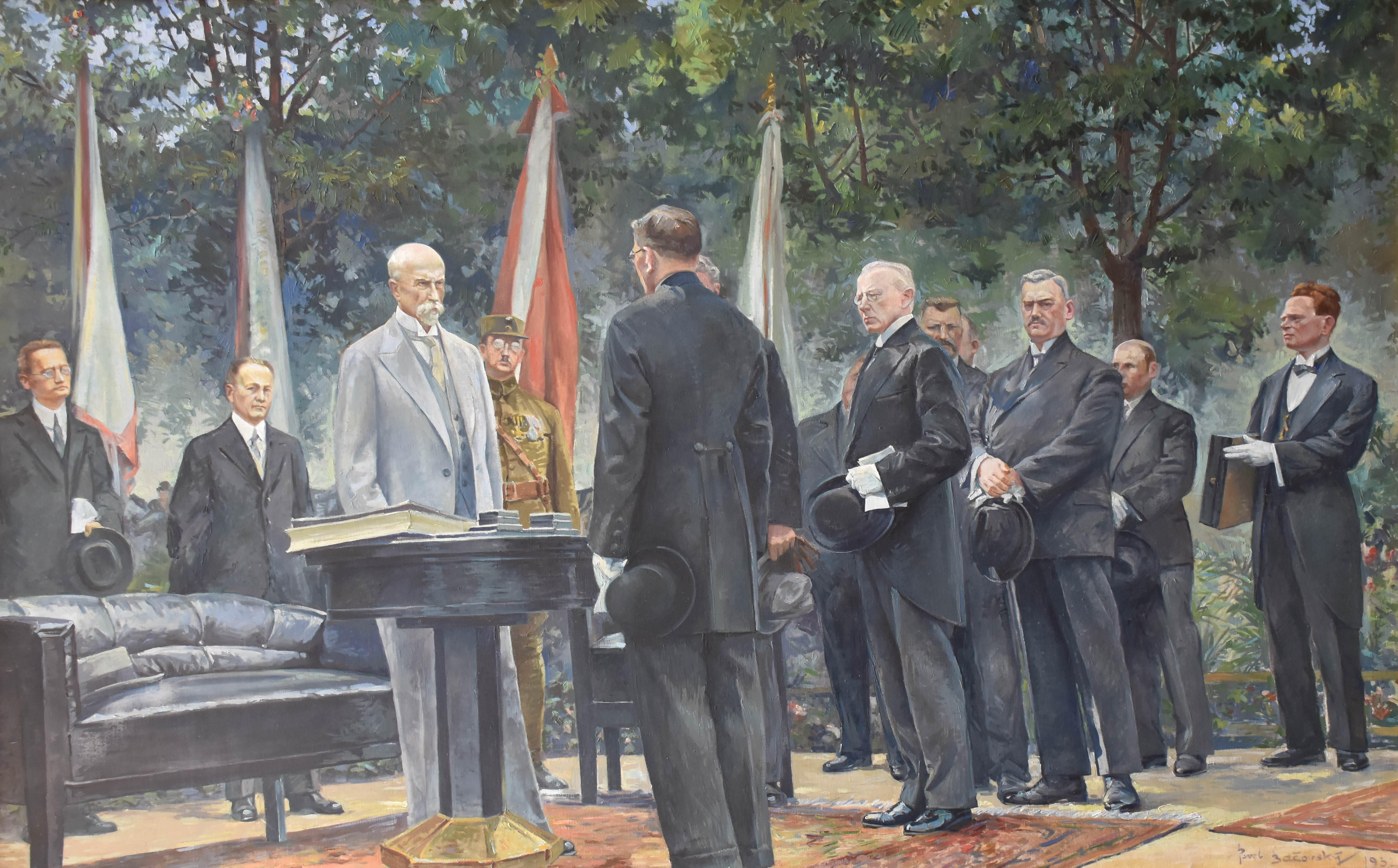 Pavel Bačovský: T. G. Masaryk v Boskovicích, 1932