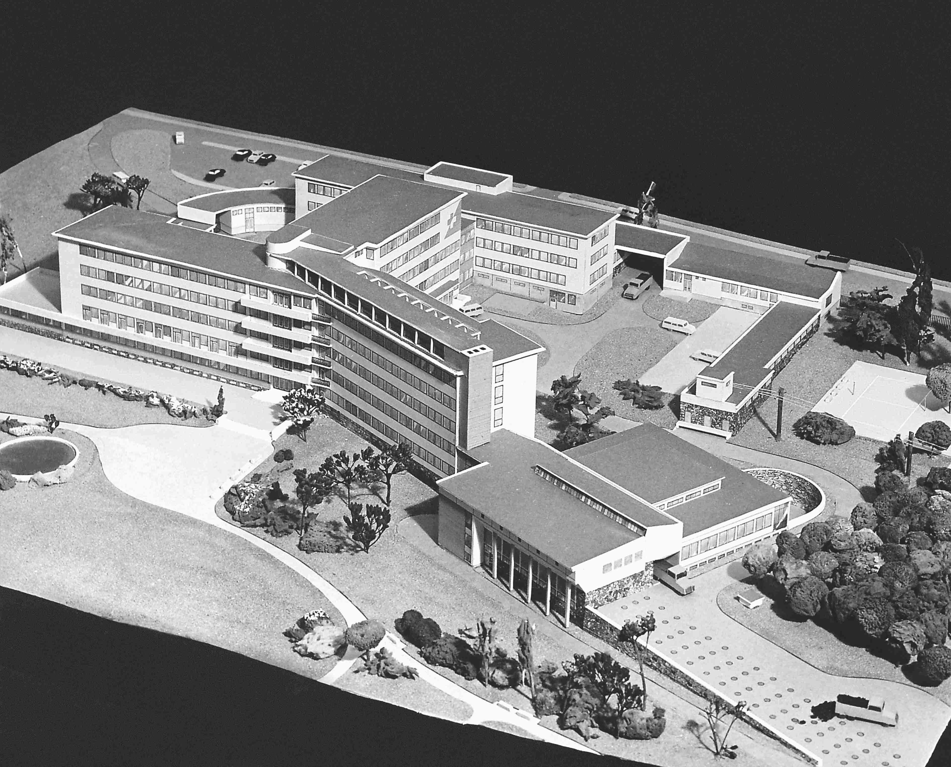 Model nemocnice na Čížovkách